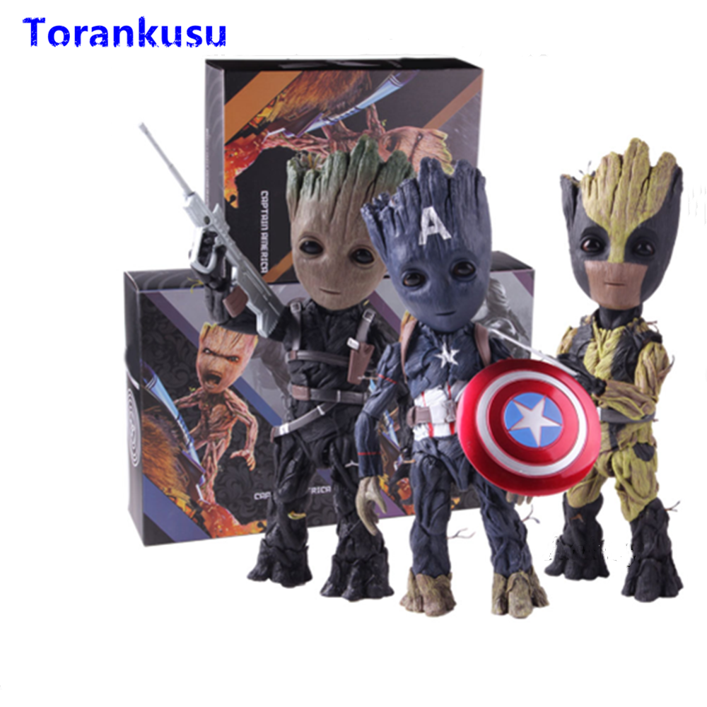 Tree Man Groot Cos Captain America The Winter Soldier Wolverine Action Figure Toys For Children Model Kids Gift Figma Doll XPTree Man Groot Cos Captain America The Winter Soldier Wolverine Action Figure Toys For Children Model Kids Gift Figma Doll XP