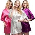 2017 Plus Size Short Bride Bridesmaids Robe Sexy Lingerie Women's Wedding Party Kimono Robes Night Dress Woman Sleepwear Pajamas