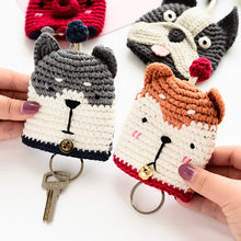Fancy&Fantasy 2018 Hot Selling Car key Chains For Women Weave Cartoon Lovely Take PULL Type Animal key Cover Handbag Keychain(China)