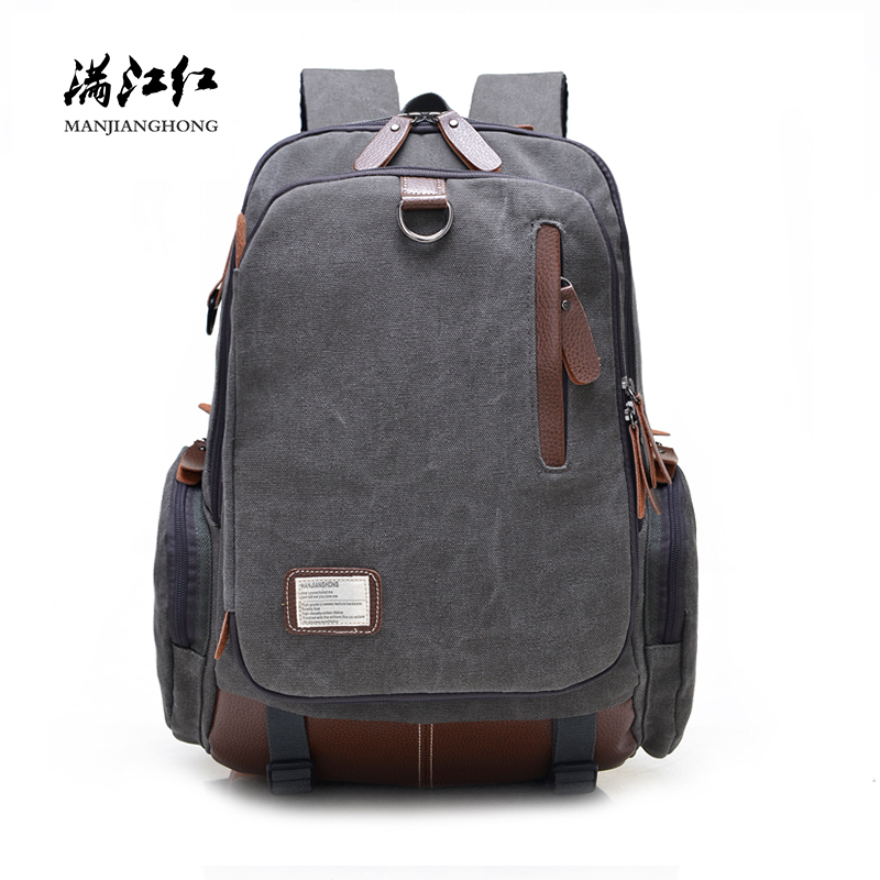 Large Capacity Vintage Canvas Travel Backpack Men Fashion Business Laptop Backpack Computer Bag Casual Rucksack School Bags 1247 2017 ozuko men canvas backpack vintage fashion rucksack large capacity travel mochila 15 inch laptop backpack srudent school bag