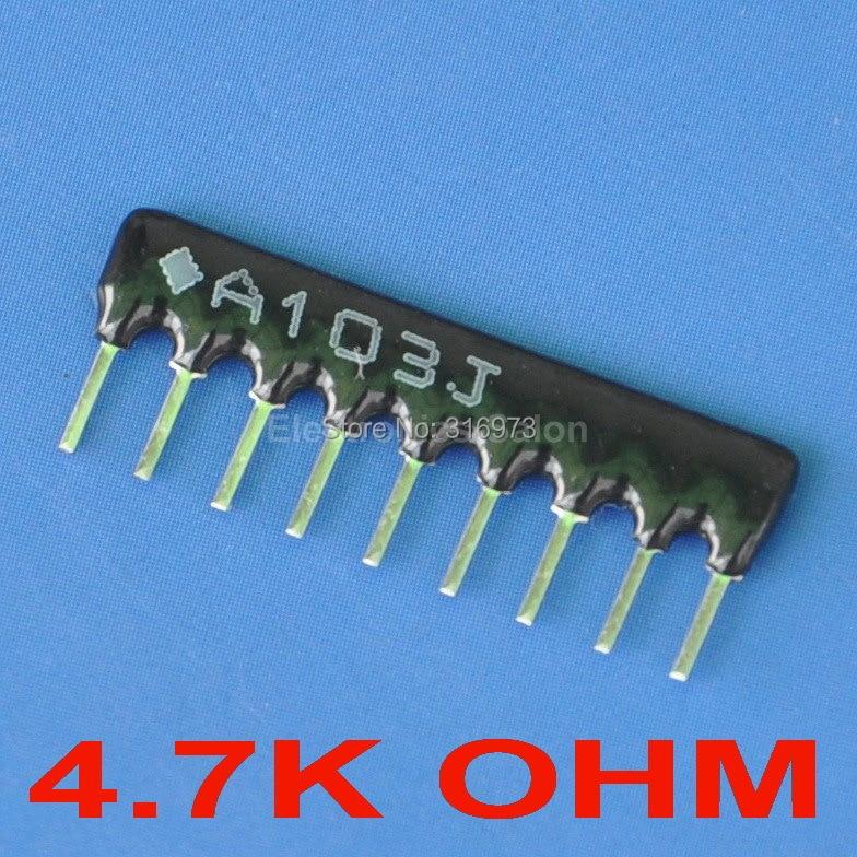 (5 штук в партии) 4.7 К Ом толстый Плёнки сети массива резистор, sip-9 автобусах Тип.
