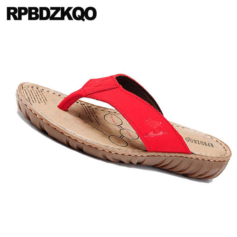be68491d2c6355 ... Slides Casual Red Sandals 2018 Wide Fit Shoes Ladies Plain Fashion  Summer Chinese Beach Women Slippers ...