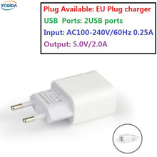 EU Plug 5V 2A 2USB Output, phone Travel Charger Adapter Compatible country Russia Ukraine Germany Poland France Spain etc.