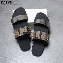 2018 New Arrival Native Sandals Spiked Summer Mens Gladiator Shoes Lona Camuflage Casual Slipper Men'S Flip Flops