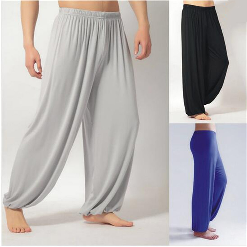 Plus Size XXXL Pants Men Modal Arts Pant Dancing Jogger Mens Summer Nepal Bloomers Tai Chi Black Grey Loose Oversized Trousers