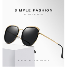 Metal Polarized Sunglasses Women Fashion Retro Round Pink Grey Brown Sun glasses Ladies Brand Designer 201995