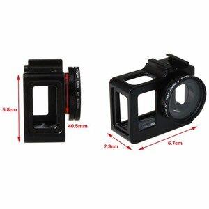 Image 2 - Newest SJCAM sj5000 Protective Housing Case +UV filter Aluminum Alloy cage Metal frame for SJCAM SJ5000 WIFI SJ 5000 SJ5000X