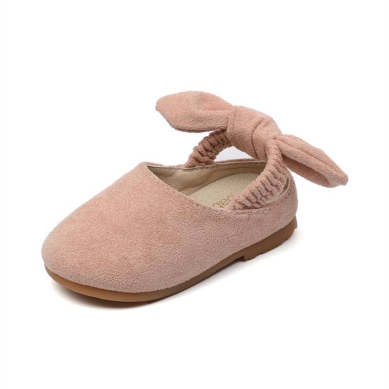 Kids Baby Girls Leather Shoes Fashion Children Butterfly Knot Baby Shoes Spring Peas Shoes Girls Princess Shoes