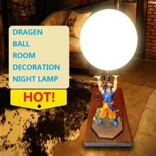 Creative Dragon Ball Reading Room Decoration Night Lamp LED Light with Cartoon Style for Fans Birthday