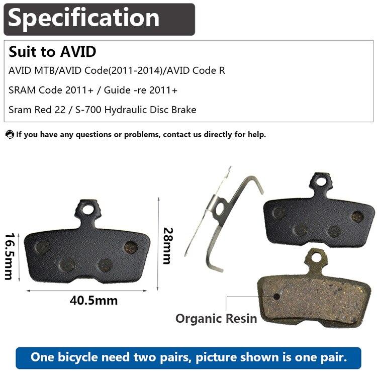 NEW Avid 2011 Code CodeR Organic Disc Brake Pad Pair