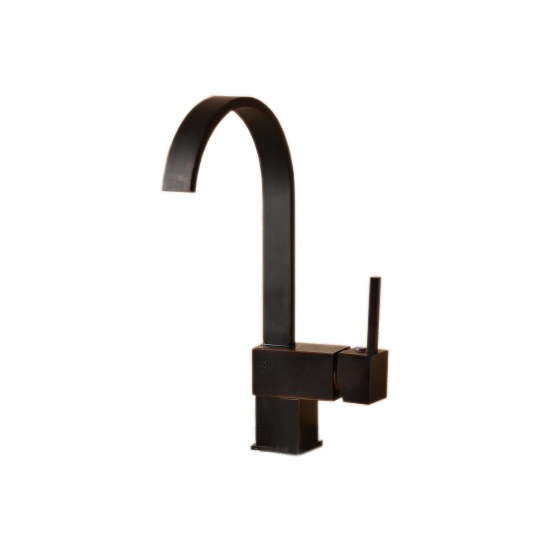 Black Oil Rubbed Brass Single Lever Kitchen Sink Faucet Mixer Tap Chg002