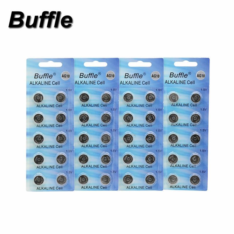 40pcs/4packs AG10 LR1130 389 SR1130 Button 189 LR54 Cell Coin Alkaline Battery