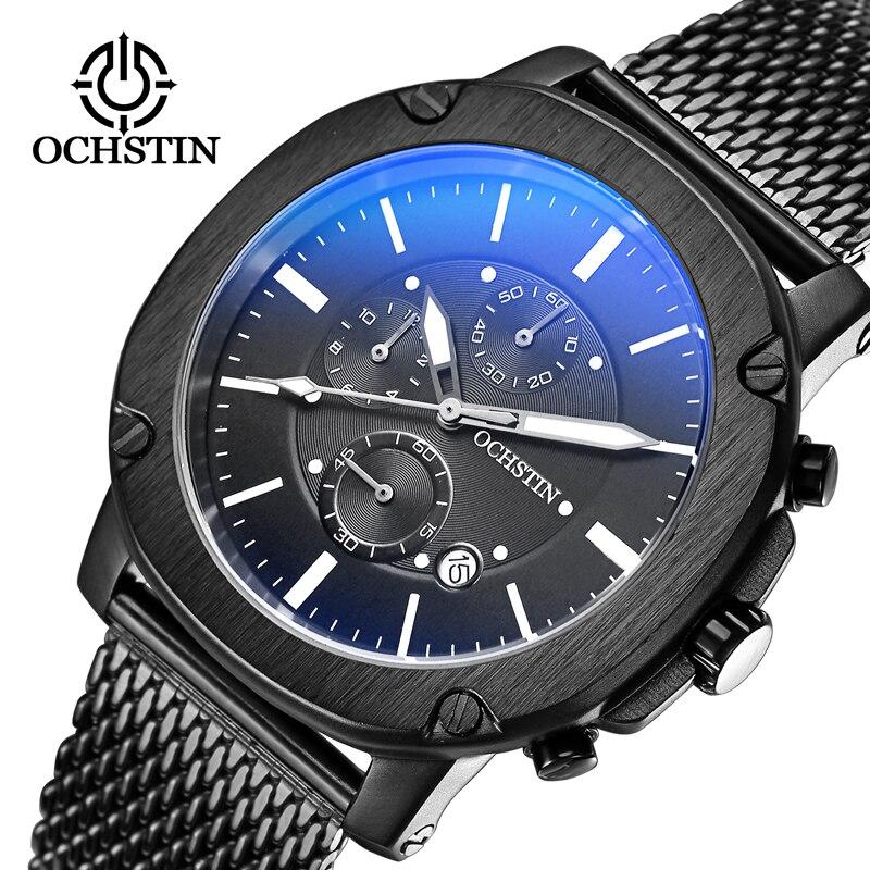 New Men Watches Top Brand Luxury OCHSTIN Waterproof Date Clock Male Steel Strap Casual Dress Quartz Watch Men Wrist Sport Watch цена