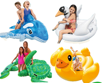 Children Animal Pool Floats Inflatable Animal Floating Kids Toys Swimming Boat Air Mattress Beach Bed Water Boat 12 Animals