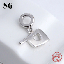 SG 925 silver charms love heart palm beads dangle fit authentic pandora bracelets jewelry making for happy new year SG gifts все цены