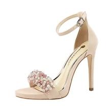 купить Fashion 2019 Crystal Pointed Toe Wedding Women Shoes Super High Pumps spring/autumn Solid High Heels Shoes Woman Pumps по цене 1345.61 рублей