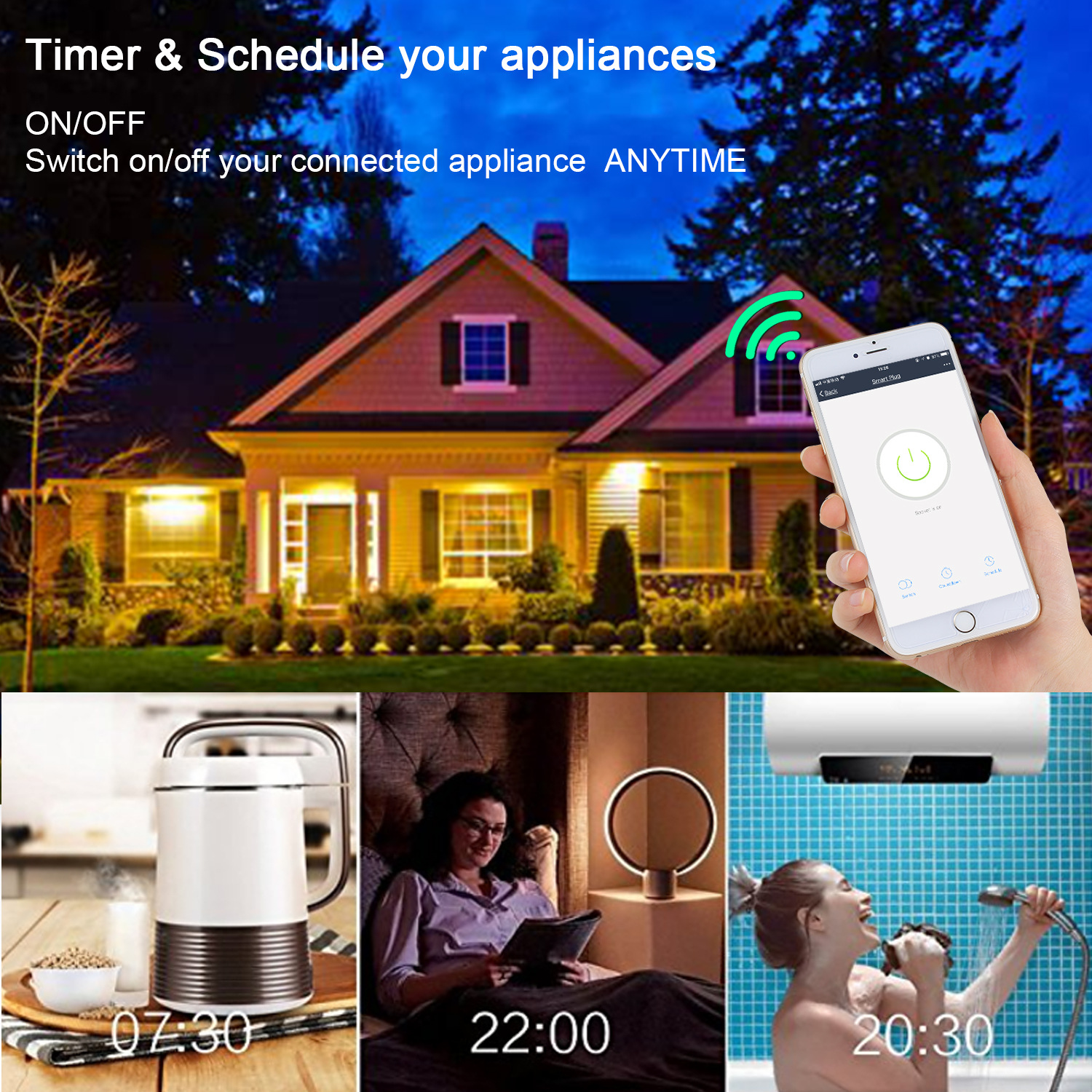 2 Pcs Brazilian WiFi Socket Smart Life APP Remote Control Brazil Standard Smart Outlet 16A Power Monitor Timer Google Compatible in Home Automation Modules from Consumer Electronics