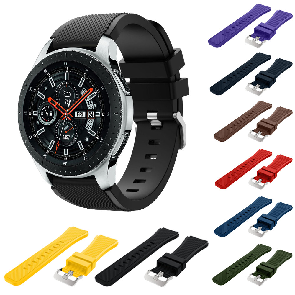 Soft Silicone Watch Band Replacement Band Strap For Samsung Galaxy Watch 46mm watch strap silicone nato strap