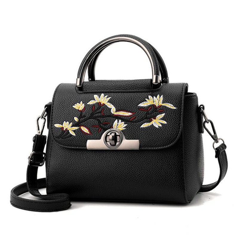 Bag For Women Messenger Bags Flowers PU Leather Shoulder Bag For Girls Small Handbag Bolsa Feminina