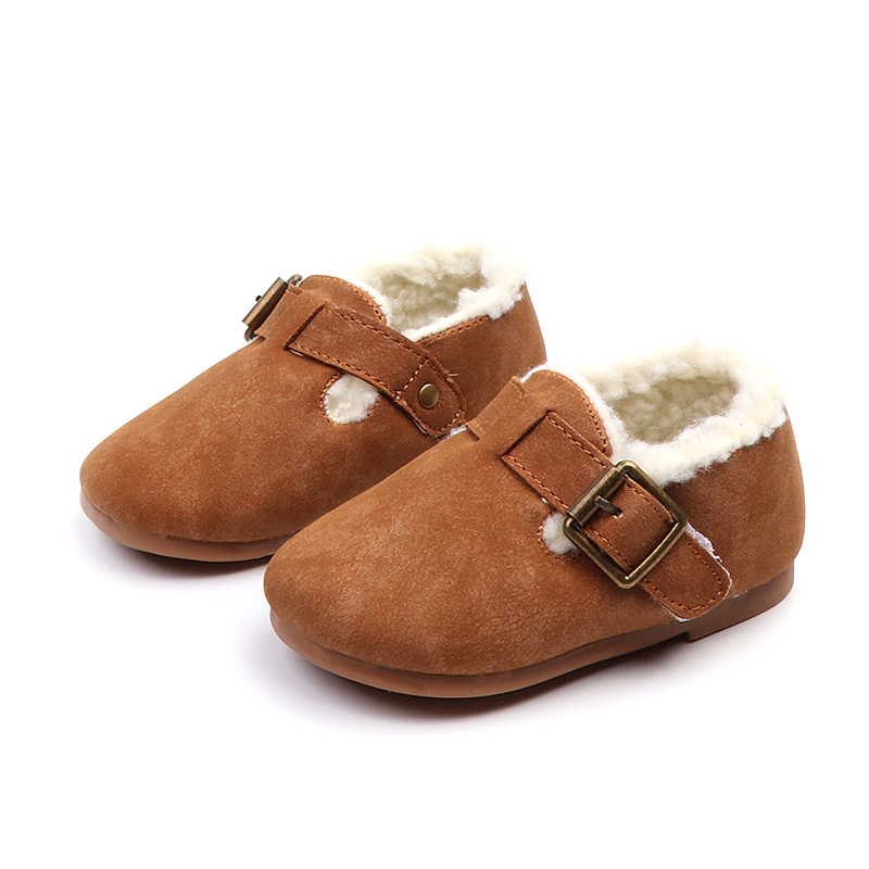 Kids Winter First Walkers New Warm Casual Shoes for Boys and Girls Genuine Leather Toddler Baby Shoes 1 to 2 years Purple Camel toddler baby shoes infansoft sole shoes girl boys footwear t cotton fabric first walkers s01