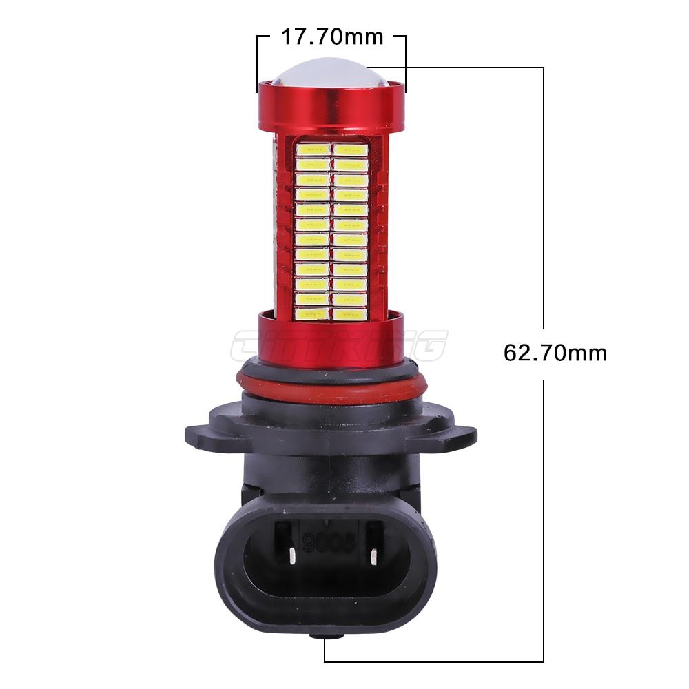 1PCS HB4 HB3 9005 9006 LED 106smd led 4014 30w LED Running Fog Light - Ավտոմեքենայի լույսեր - Լուսանկար 5