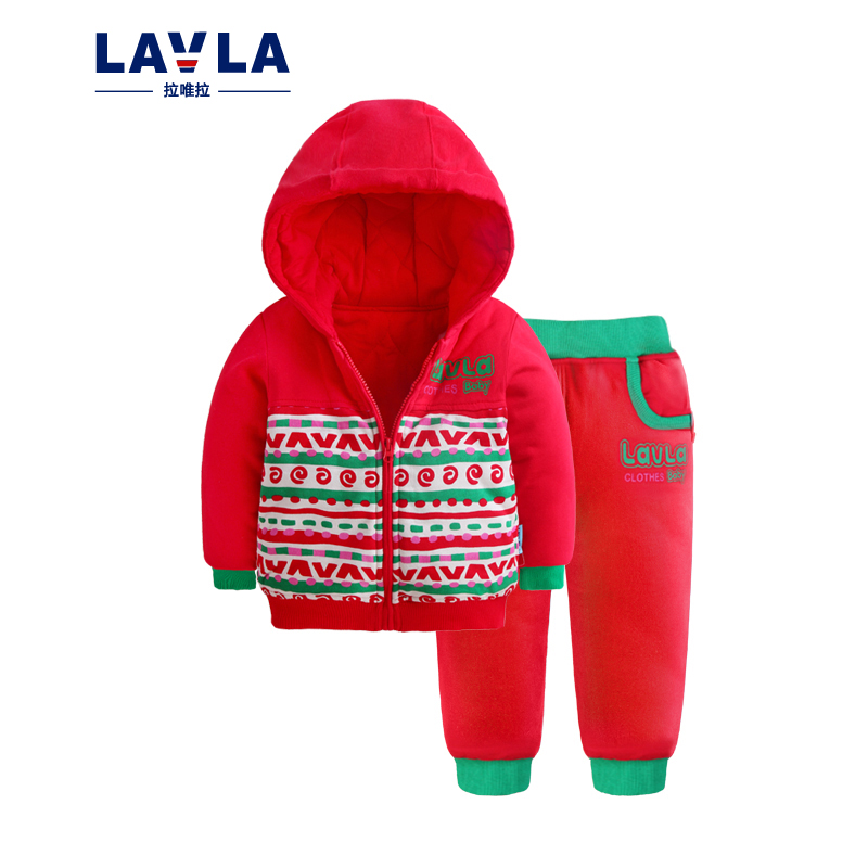Winter Autumn Thicken Sets Baby Boys Girls Padded Cotton Hoodies Coat Pants Two Piece Suit fashion Children Kids Clothes casual 2017 winter children cotton padded parkas clothes baby girls