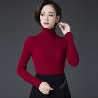 Turtleneck Pullover Wool Sweater Women Thick Slim Knitted Thickening Warm Pullover Jumper 2017 Vintage Winter Sweater