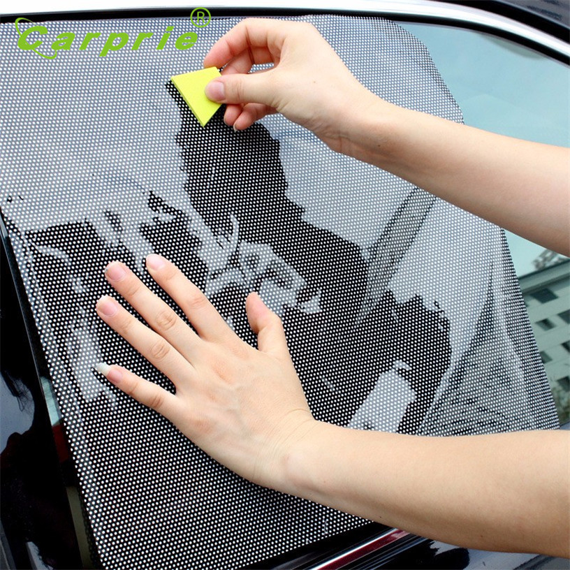 Dropship Hot Selling 2Pcs Car Rear Window Side Sun Shade Cover Block Static Cling Visor Shield Screen Gift Jul 11