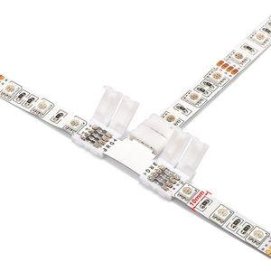 Светодиодная лента, 4 контакта, L-образный крестообразный T-образный разъем, Бесконтактный сварочный RGB-разъем для светодиодных лент 10 мм 3528 ...