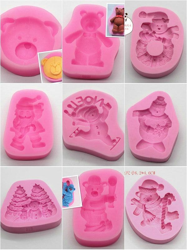 1 шт. Медвежонок серии силиконовые помадные формы для торта глина кухонная формочка для шоколада инструменты