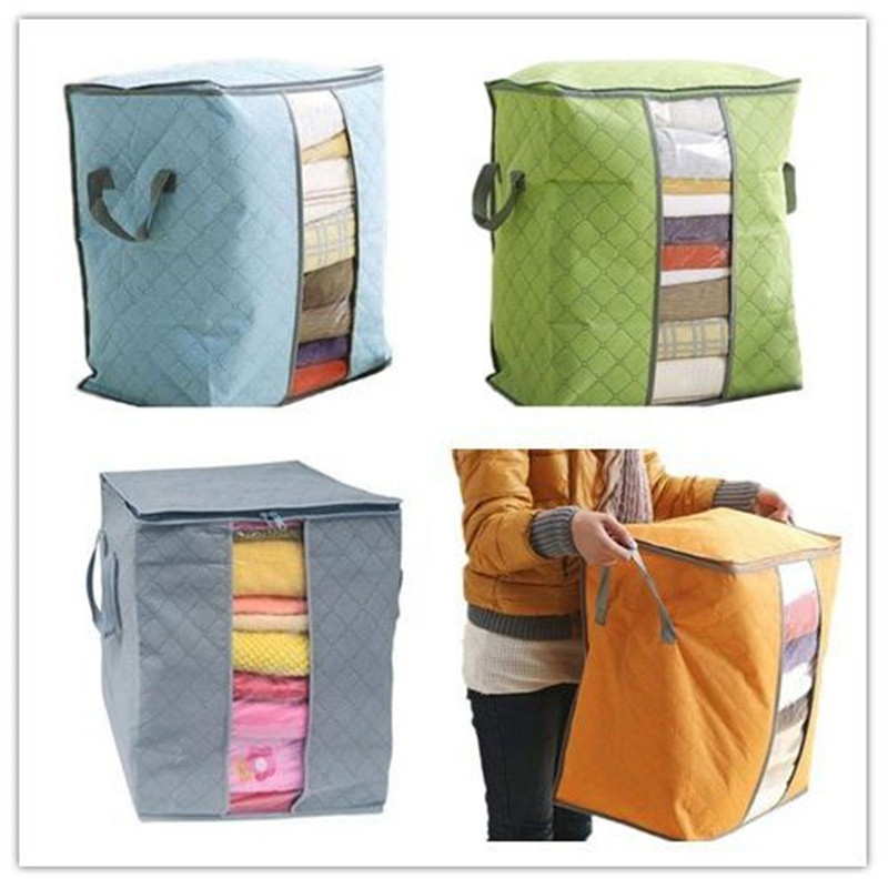 Bamboo Clothing Companies House: Lasperal Portable Quilt Storage Bags Cotton Home Storage