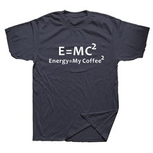 "Cool geeky ""Energy Equal My Coffee"" T-shirt"