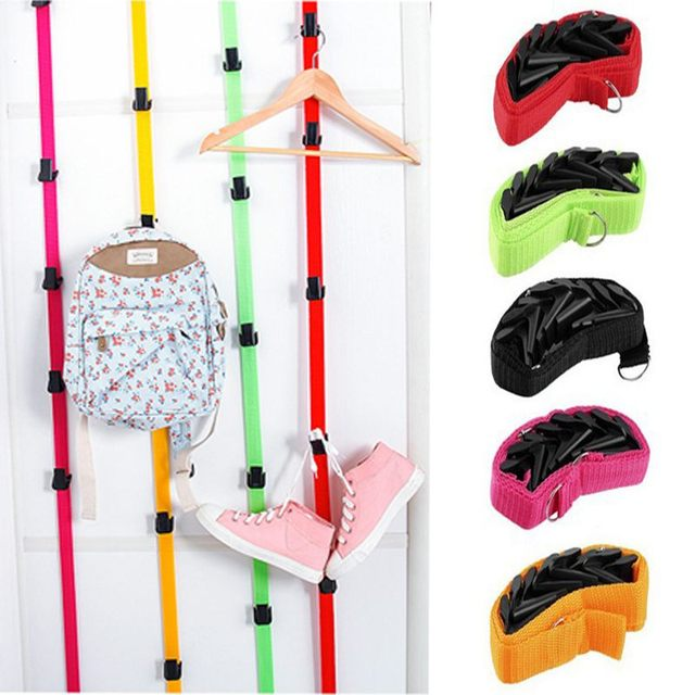 8 Hooks Adjustable Baseball Cap Rack Hat Holder Clothes Rack Organizer  Storage Door Closet Hanger Estante