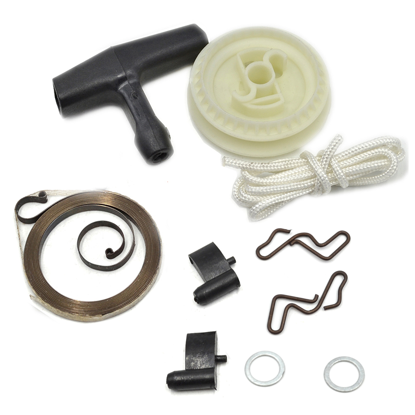 Starter Handle Rope Pulley Spring Kit For Stihl Chainsaw 017 018 021 023 025 MS170 MS180 MS210 MS230 MS250 Replace 1123 195 0400 38mm cylinder piston rings needle bearing kit for stihl ms180 ms 180 018 chainsaw