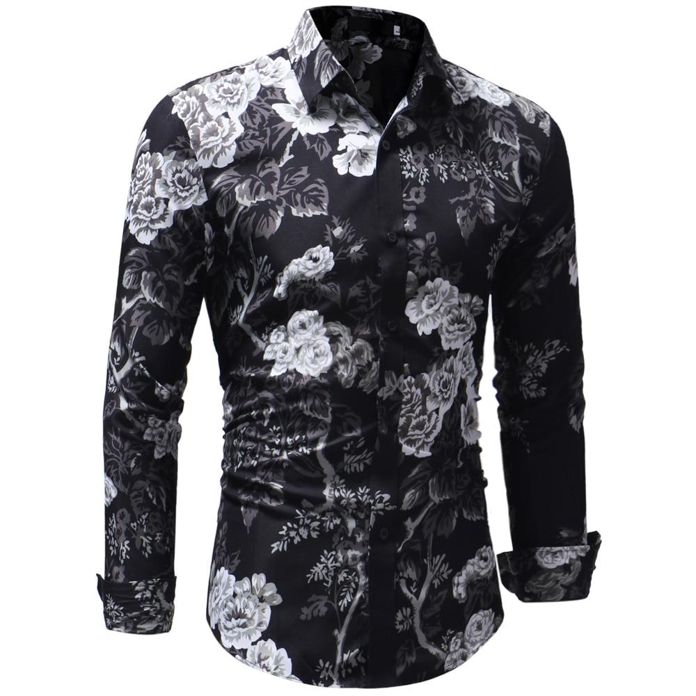 Men'S Shirts 2018 High Quality Fashion Mens Long Sleeve ...