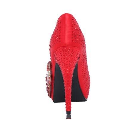 e7a758356d0cd6 2015 Summer new design high-heeled bride shoes bridal wedding shoes red  diamante women s platform thin heels Pumps free shipping