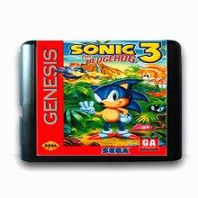 Sonic The Hedgehog 3 16 bit MD Scheda di Memoria per Sega Mega Drive 2 per SEGA Genesis Megadrive
