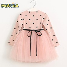 Menoea-2016-Autumn-Cute-Style-Girls-Dress-Long-sleeve-Dot-Mesh-Design-Princess-Dress-Children-Winter