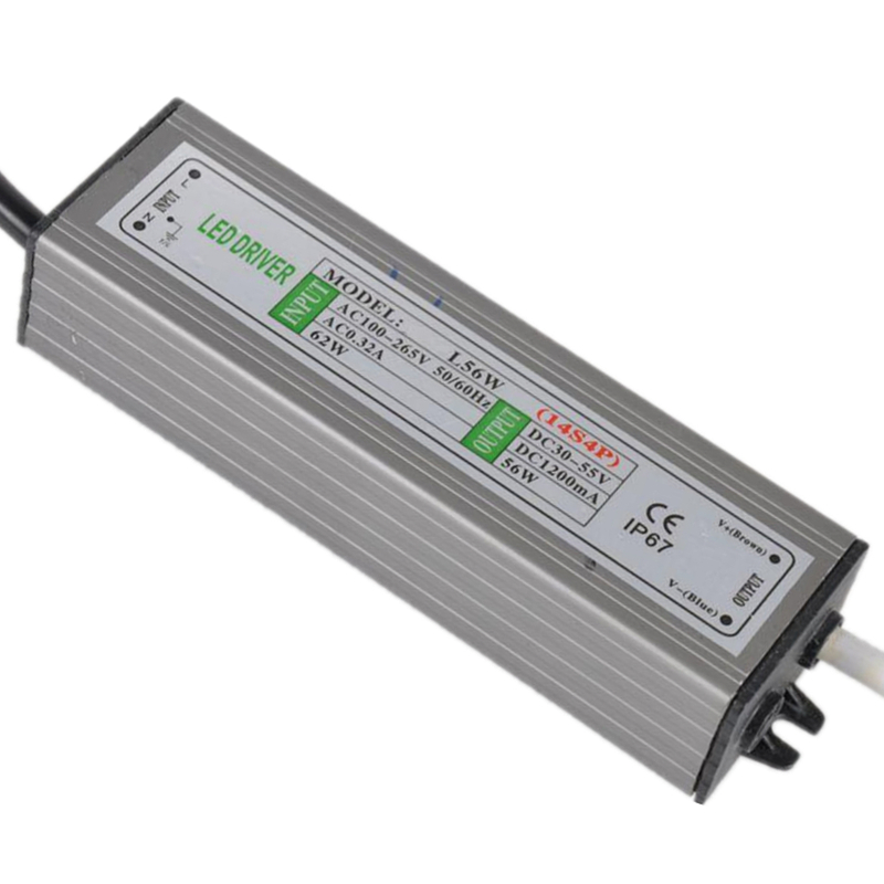 PHISCALE 1piece 56W IP67 Waterproof LED Driver Power Supply Constant Current AC100-260V 1200mA for 56W LED Bulb 40w led driver dc140 150v 0 3a high power led driver for flood light street light constant current drive power supply ip65