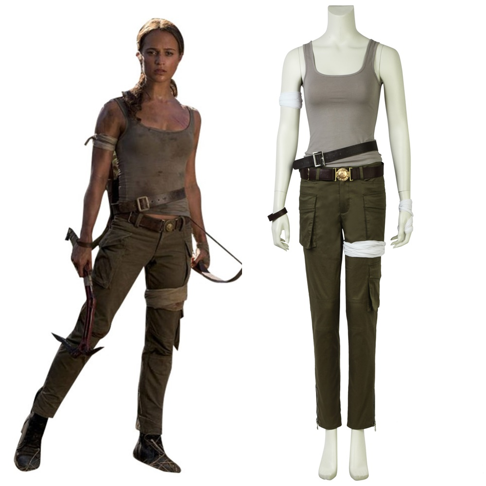 Tomb Raider Lara Croft Cosplay Costume Full Set