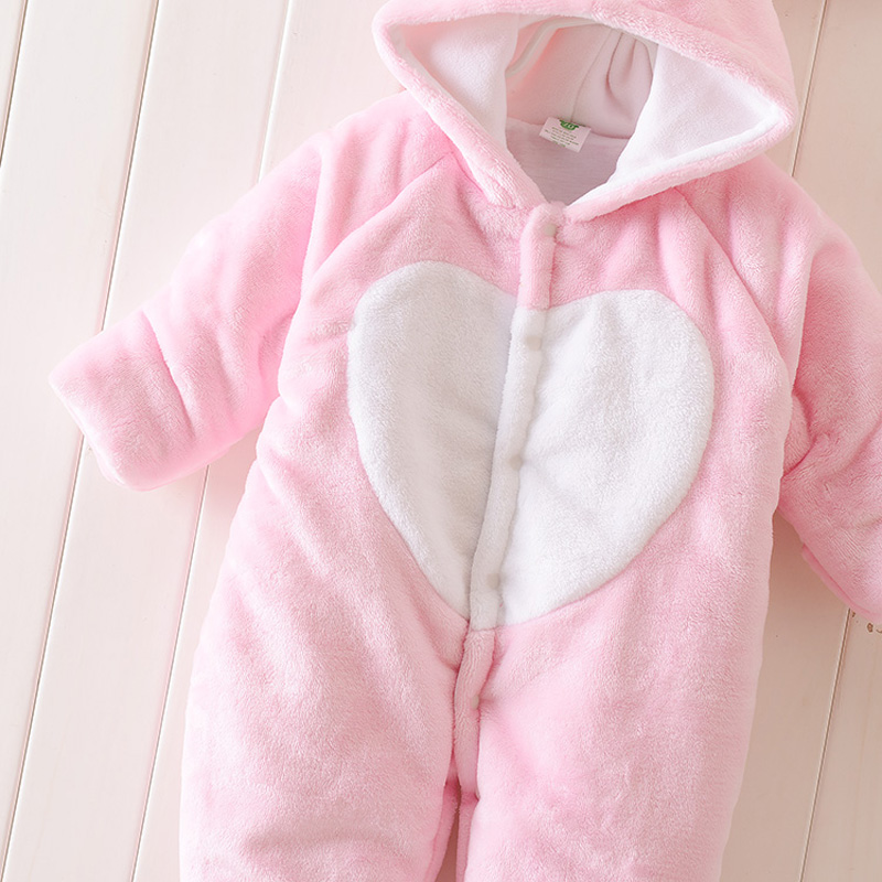 6e95206f6a2e Super Warm Baby Clothes Boys Girls Animal Hooded Romper Newborn Baby Girl  Winter Jumpsuit Thick windproof Coverall Baby Clothing-in Rompers from  Mother ...