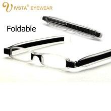 IVSTA 6606 Folding reading glasses men 360 Rotation women frame Slim Resin aspherical Lenses presbyopic diopter +1.00+2.5 +400