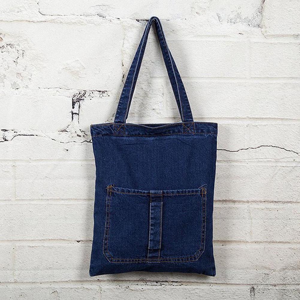 100% Wahr Frauen Retro Jeans Handtasche Leinwand Taschen Einzelnen Schulter Mode Einfache Casual Lagerung Denim Tote Leinwand Tasche Handtasche Mädchen Tuch Tasche Angemessener Preis