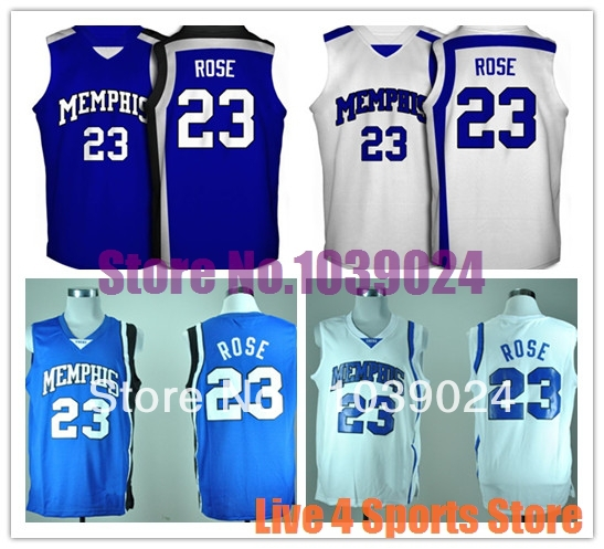 d689a5a2 ... Memphis Tigers 23 Derrick Rose Jersey Royal Blue Best Seller TOP  Quality Sewn New College .