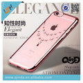 Atacado 100 pcs 2016 Qinda Novo Design de Varejo de Luxo Elegante broca caso tpu macio para apple iphone 6 s 6 s plus frete grátis