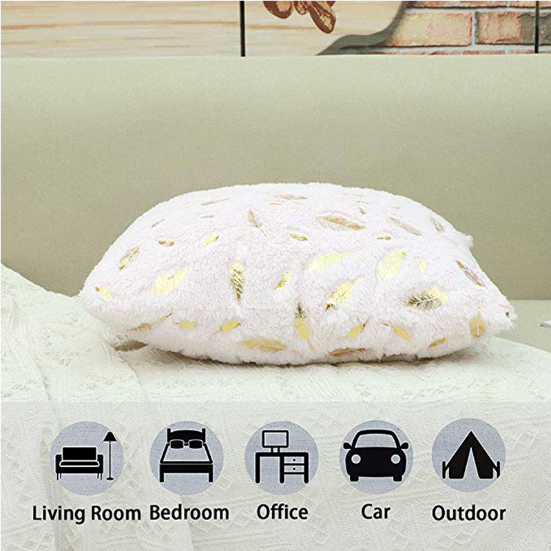 Decorative Cushion Cover Fur Feather Home Plush Pillow Case Decorative Throw Pillow Cover Seat Sofa Bed Decoration Pillowcases
