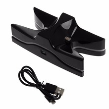 LED 2 USB Charger Station Charging Stand Dock For SONY PS4 Game Controller New For OCDAY-Y1QA