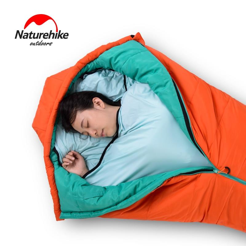 Camping & Hiking Naturehike New Mummy Style Sleeping Bag Linner High Elastic Fiber Softable Portable Sleeping Bags For Spring Autumn Outdoor Sleeping Bags