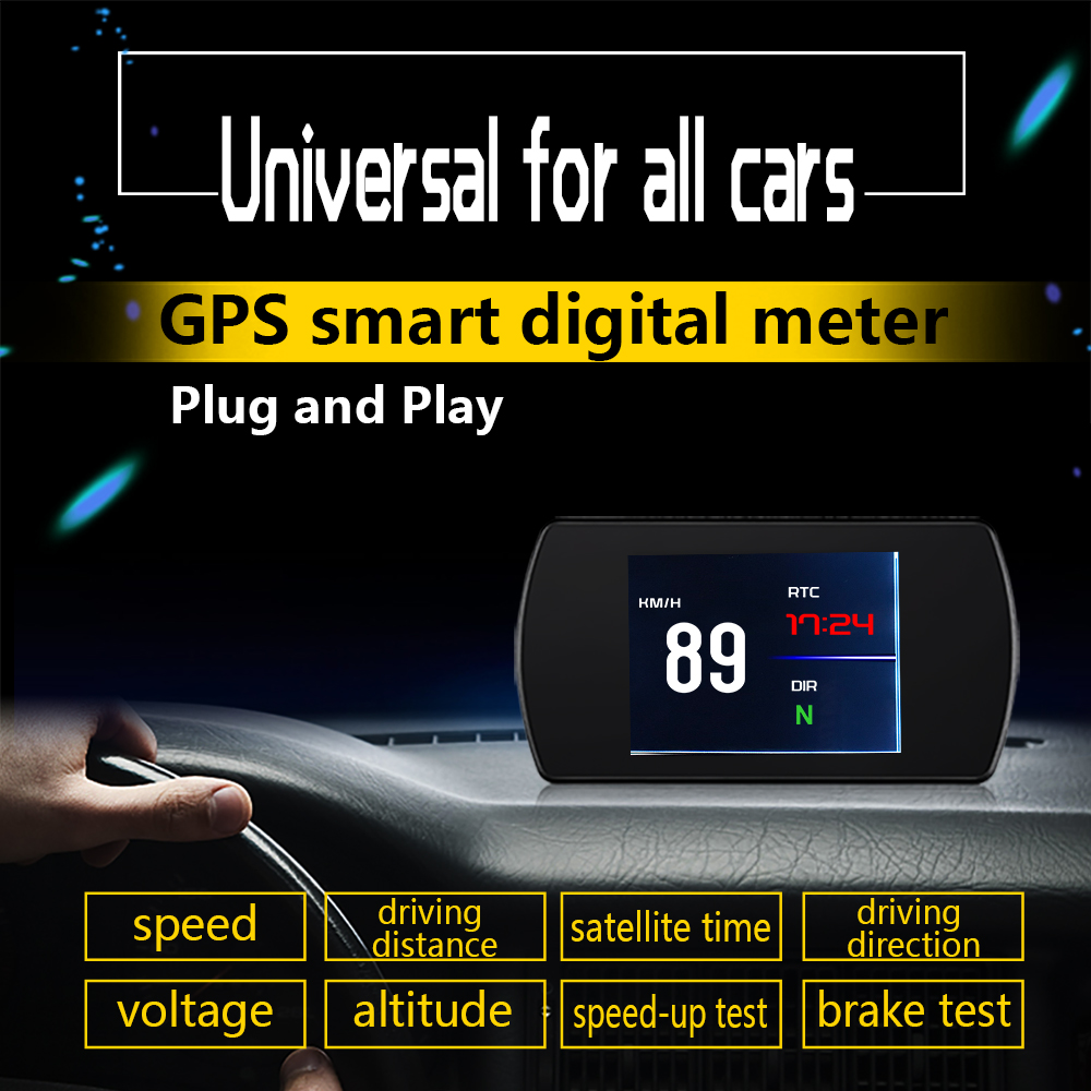 Image 3 - 25 Functions 48 ECU Car Data OBD2 Digital OBD Gauge HUD Auto Diagnostic Tools GPS Digital Meter TFT HD Display For All Cars-in Head-up Display from Automobiles & Motorcycles