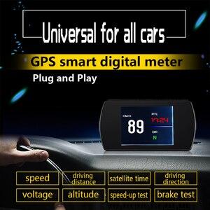 Image 2 - P12 רכב OBD2 דיגיטלי מד OBD HUD אוטומטי אבחון כלים GPS T800 דיגיטלי מד TFT HD תצוגה עבור כל מכוניות 25 פונקציות